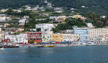 Photo for General view of Capri Island in Naples City, Italy - Royalty Free Image