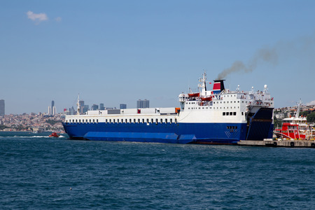 Photo for Roro Ship is loading in a Port - Royalty Free Image