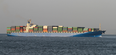 Photo for A container ship carrying goods between ports - Royalty Free Image