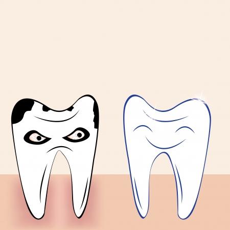 Abstract teeth cartoon dental background