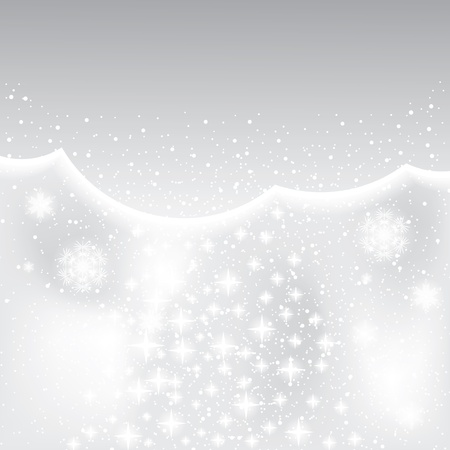 Abstract silver winter background with stars