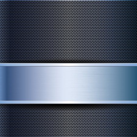 Abstract business blue metal grid background