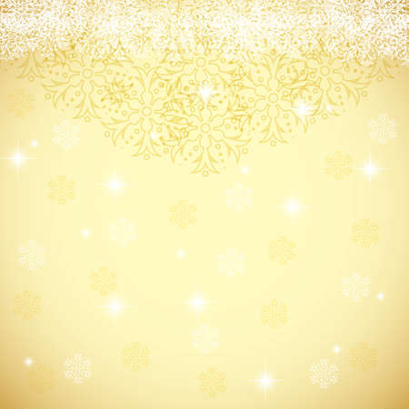 Abstract gold winter Christmas background