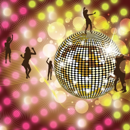 Disco Party colorful Background