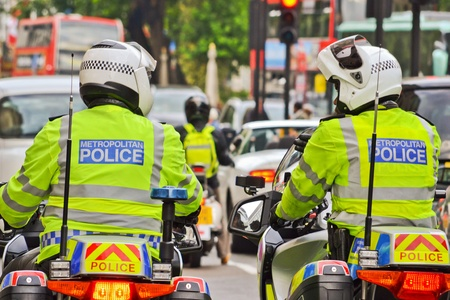 London Police In Motorcycle