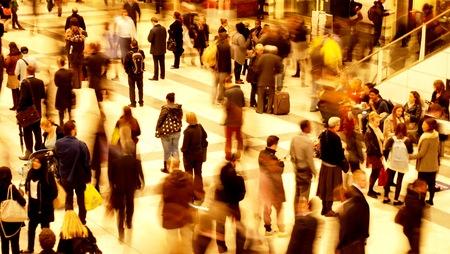 Train station rush hour