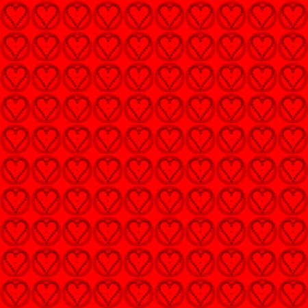 valentine pattern red heart