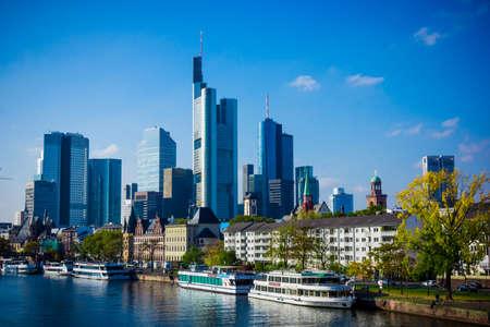 Skyline of Frankfurt, Germany.  Frankfurt am Main city