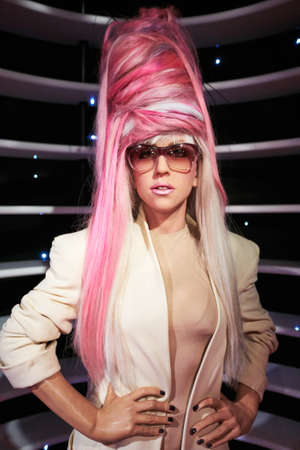Amsterdam, Netherlands - September 05, 2017: Lady Gaga wax statue in Madame Tussauds museum  in Amsterdam Netherlands