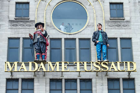 Amsterdam, Netherlands - September 05, 2017: Madame Tussauds wax museum  in Amsterdam, Netherlands
