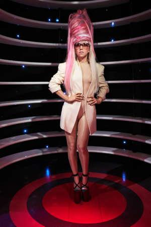 Amsterdam, Netherlands - September 05, 2017: Lady Gaga wax statue in Madame Tussauds museum  in Amsterdam Netherlands