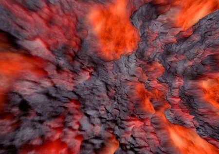 The texture of molten lava. Lava crack ground mud