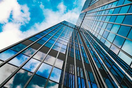 Photo pour office building. skyscraper. Exterior of building - image libre de droit