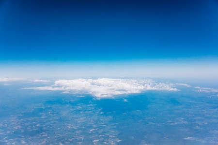 Photo pour Clouds, a view from airplane window - image libre de droit