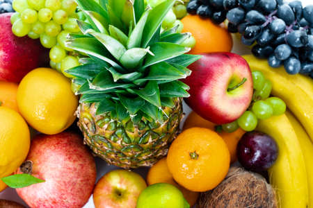 Photo for Fresh fruits background.Healthy eating - Royalty Free Image