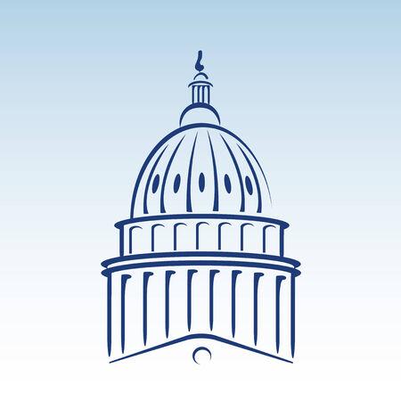 US Capitol Dome Illustration