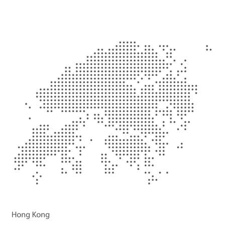 Illustration pour Abstract dotted map of Hong Kong. Vector illustration - image libre de droit