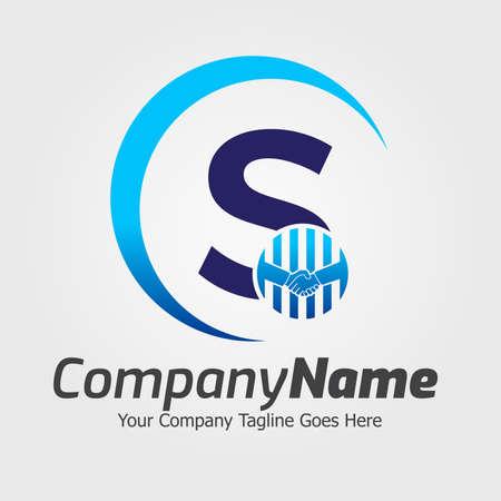 Illustration pour Letter S Hand Shake Logo Template, Hand Shake Vector Illustration, Deal Job Logo - image libre de droit