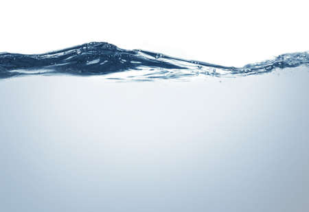 water surface with bottom isolated on whiteの写真素材