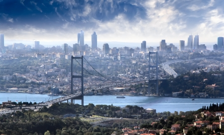 Bridge over Bosphorus, Istambul