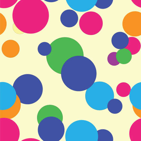 Seamless background with colored circules.