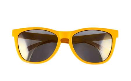 Foto de Yellow sun glasses isolated over the white background - Imagen libre de derechos