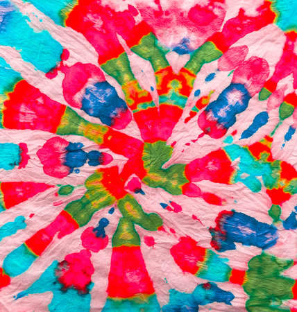 Photo for Red and Indigo Freedom tiedye Swirl. Boho Dyed Clothes. Reggae Watercolor Effect. Psychedelic Swirl Textile. Tie Dye Spiral Background. Hippie Batic. Vibrant Haight San Francisco Swatch. - Royalty Free Image