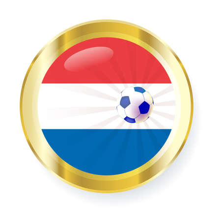 national flag of the Netherlands (Holland) in circular shape with additional details