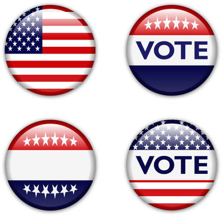 empty vote badge button for united states election