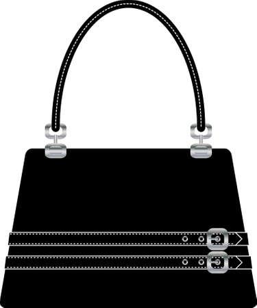 Illustration pour beautiful handbag purse on the white back ground - image libre de droit