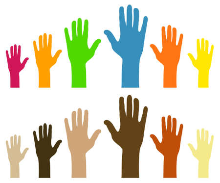 illustration of hands for the concept of diversity