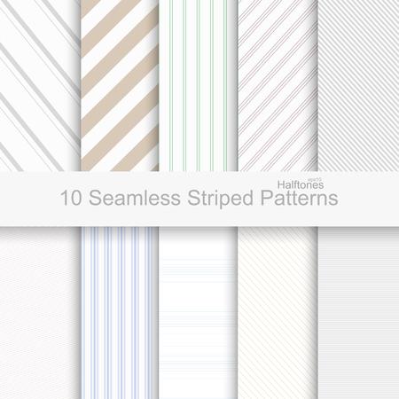 Ilustración de Striped seamless patterns. Soft colors patterns for your design and ideas. - Imagen libre de derechos