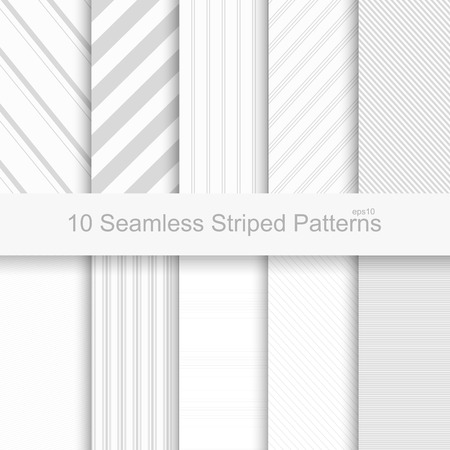 Photo for Seamless striped patterns. White and gray texture. - Royalty Free Image
