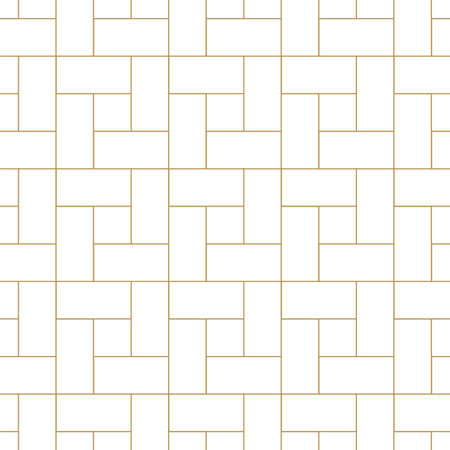 Photo pour Vector seamless geometric outline simple pattern. Thin grid linear texture. Abstract minimalistic repeatable background. - image libre de droit