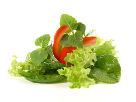 Photo for Mixed salad bouquet isolated on white background - Royalty Free Image