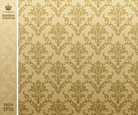 seamless backgroung vintage beige. vector illustration