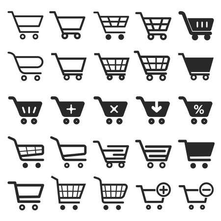 Ilustración de Shopping Cart icon set, shopping cart icon, shopping cart, business icon, web icons, trolley icon, shopping icon, cart icon, shop icon, shopping cart button - Imagen libre de derechos