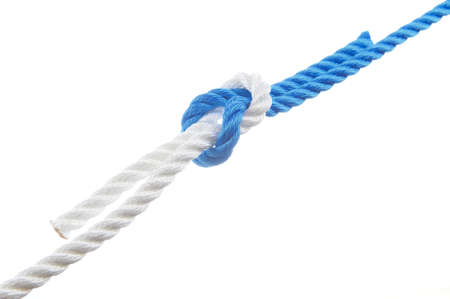 Square knot isolated on white background
