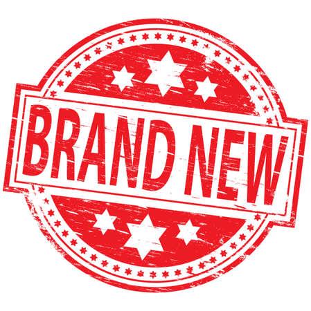 Illustration pour Brand New Rubber Stamp - image libre de droit