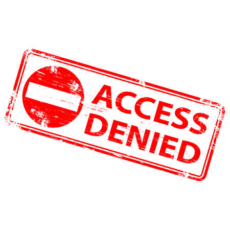 ACCESS DENIED Rubber Stamp