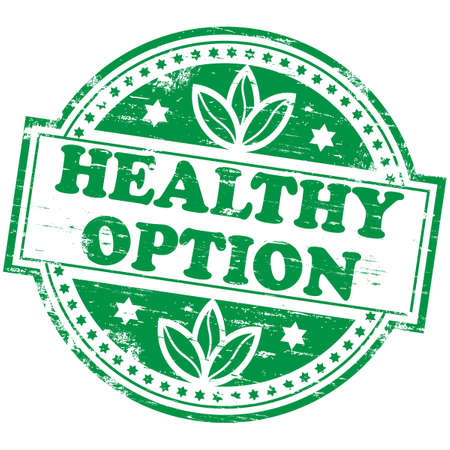 HEALTHY OPTION Rubber Stamp