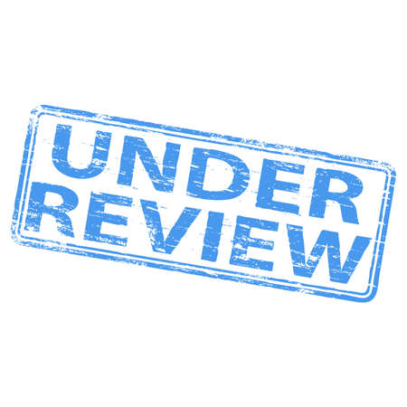 UNDER REVIEW Rubber Stamp