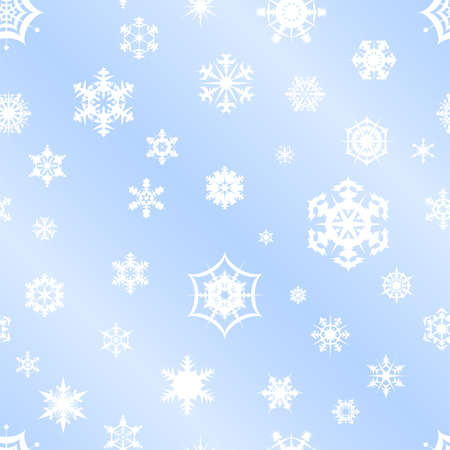 Repeating vector snowflake background