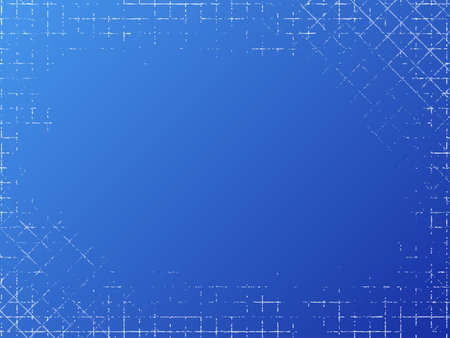 Grungy industrial texture on blue background. Vector illustration