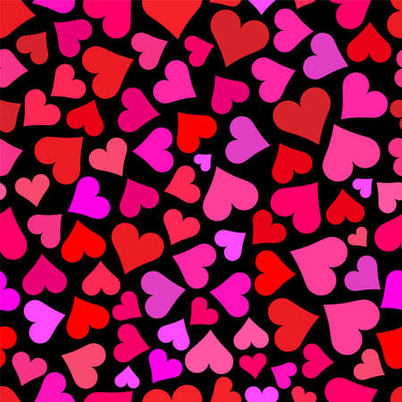 Love hearts on black background tileable wallpaper that repeats left, right, up and down