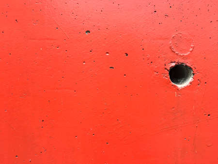 Photo for Black hole with red concrete wall texture background - Royalty Free Image
