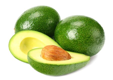 Photo for healthy food. fresh avocado with slices isolated a on white background - Royalty Free Image