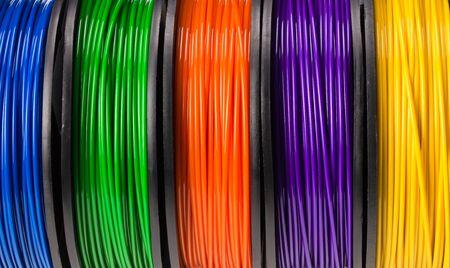 Foto de filament 3d printer background or texture. background - Imagen libre de derechos