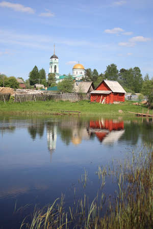typical russian village on t