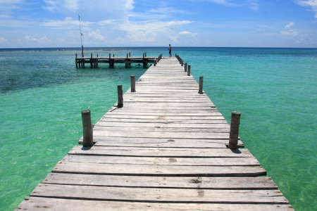 wooden pier in the Caribbean